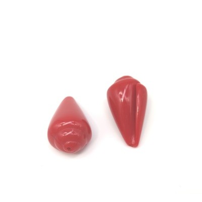 Bright red resin shell
