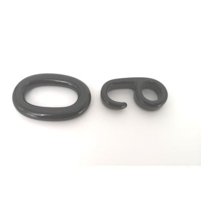 Interlocking resin locks for black necklaces