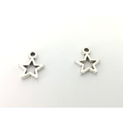 Charms a stella in acciaio