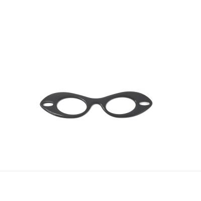 Black resin glasses