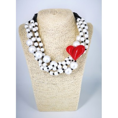 Torchon heart liberty necklace
