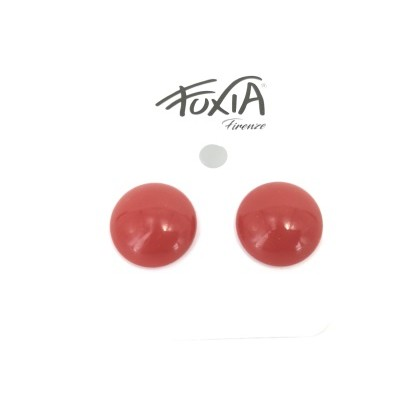 copy of ear studs 18 mm button pierced in red