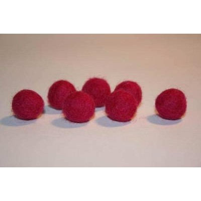 Felt beads measures 15 mm