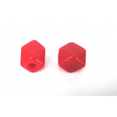 faceted red prism