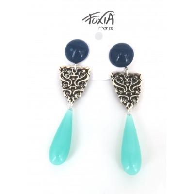Set of maya earrings with drop