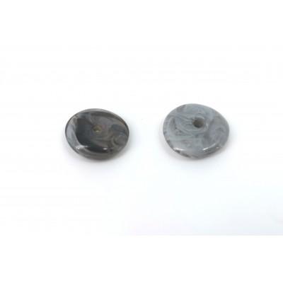 Dischetto grigio marmorizzato