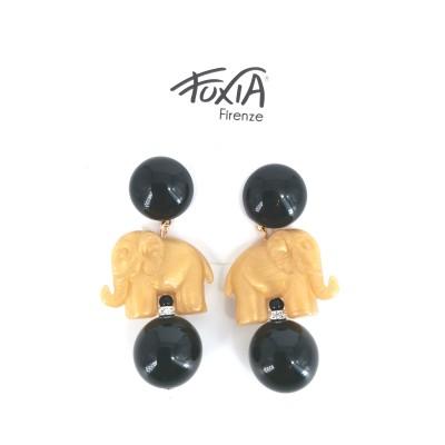 Set Elephant Earrings Gold